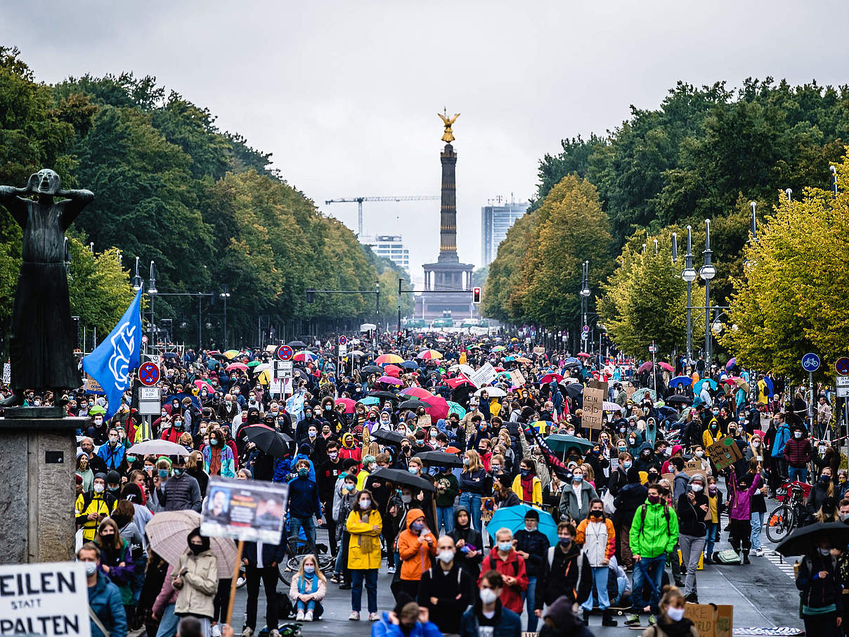 Klimademo Fridays for Future in Berlin am 25.09.2020 © Andi Weiland / WWF