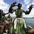 Fischer aus Fidschi in traditioneller Tracht © Brent Stirton / GettyImages