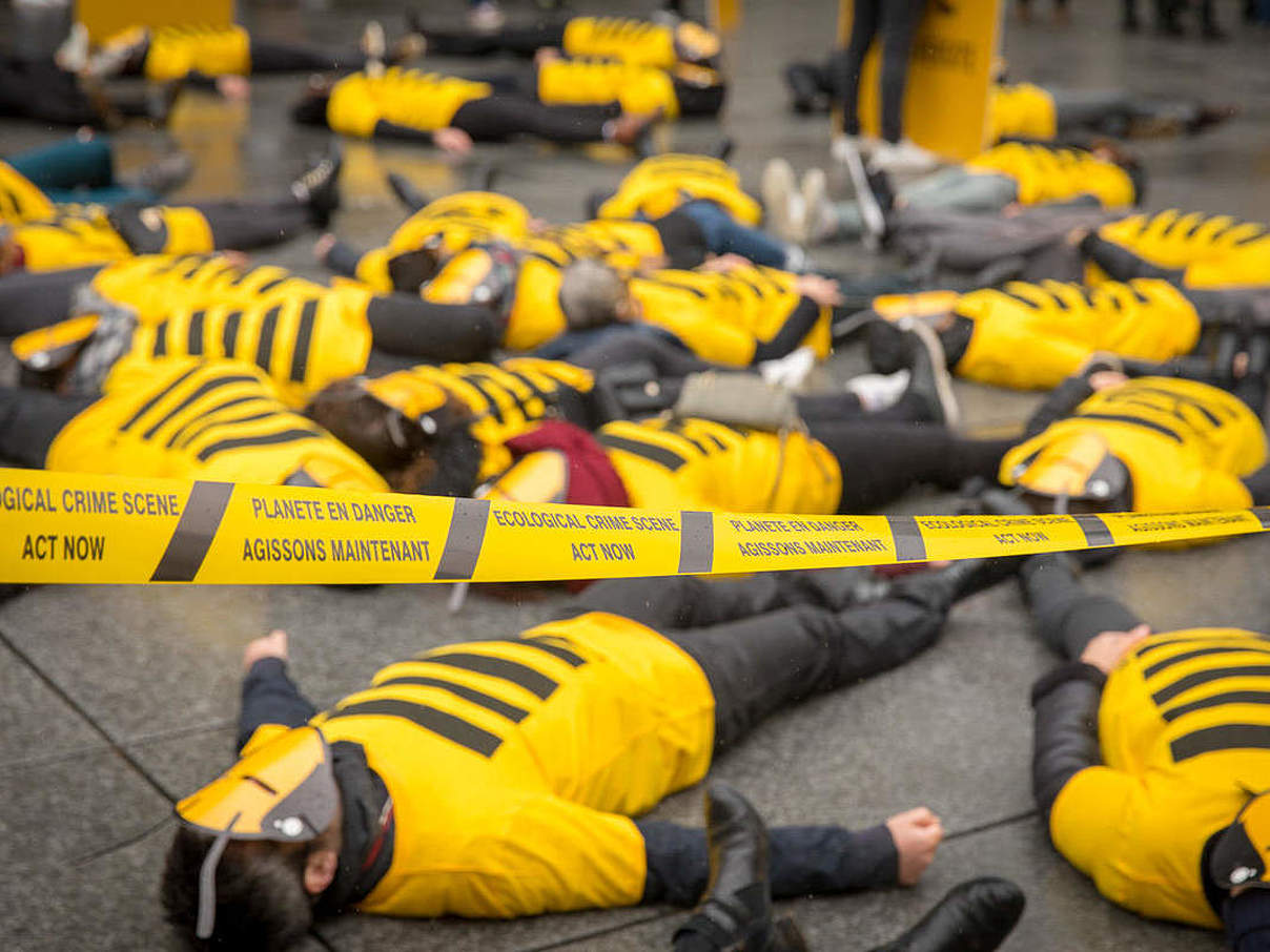 "Bienen ""Die In"" in Paris am 4. July 2019 © Daisy Reillet WWF France"