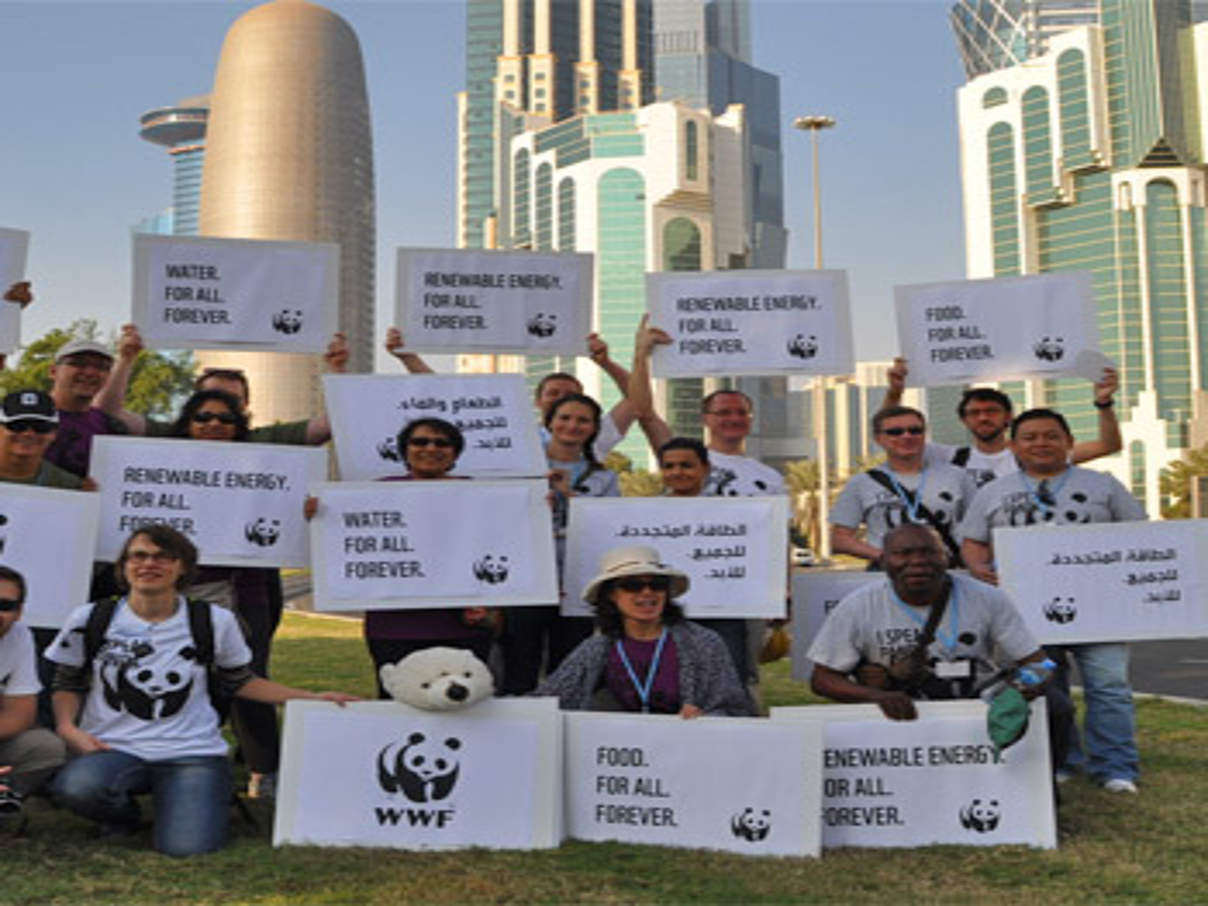 WWF vor Ort in Doha. © WWF / Mark Lutes
