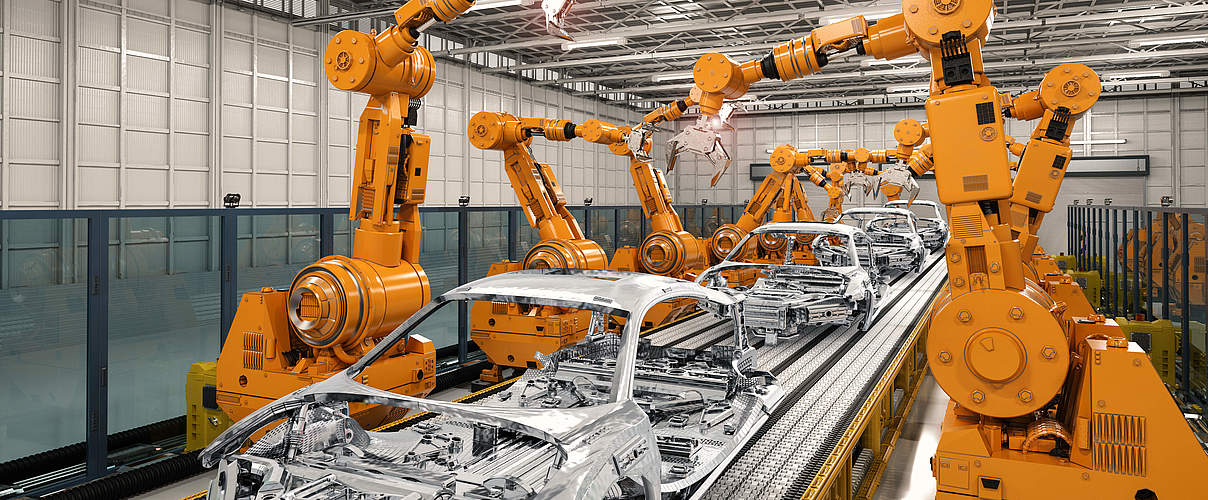 Automobilproduktion © PhonlamaiPhoto / iStock / Getty Images Plus